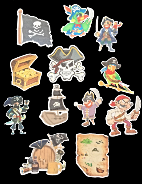 Pirates - edible cake toppers